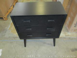 Mid Century 3 Drawer Nightstand