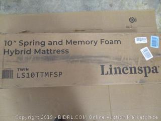 "Linenspa 10"" Spring And Memory Foam Hybrid Mattress (Twin)"