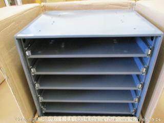 """Durham 321B-95 Heavy Duty Bearing Slide Rack Without Door (Holds 6 Large Compartment Boxes), 20-5/16"""" x 15-15/16"""" x 21-7/8"""""""