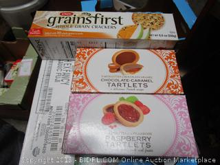 Boxed Crackers + Tartlets