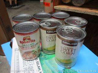 Canned Corn and Refried Beans