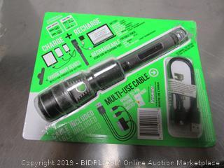 Rechargeable Flashlight/USB Charge Hub