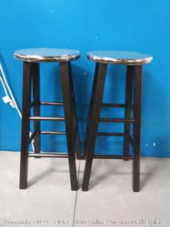 Winsome Trading 20230 Set of 2 Bar Stool 29 in. Square Leg Stools