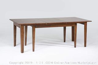 Birchley Soild Wood Dining Table (online $948) cracked, see photos