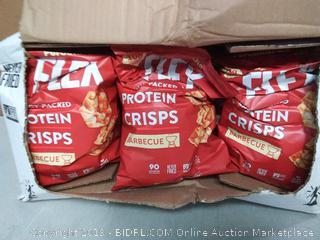 PopCorners Flex Barbecue Vegan Protein Crisps Plant-Based Protein, Gluten Free Snacks (12-Pack, 5 oz Snack Bags)