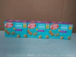 enjoy life crunchy mini cookies sugar crisp 3pck