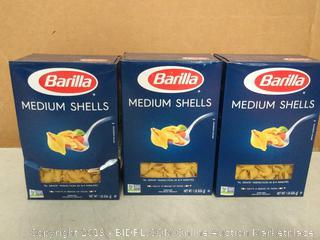 Barilla Medium Shells 3pck