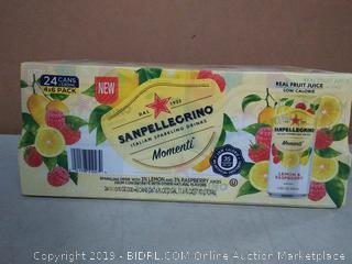 Sanpellegrino Italian sparkling water 24 pack lemon and raspberry
