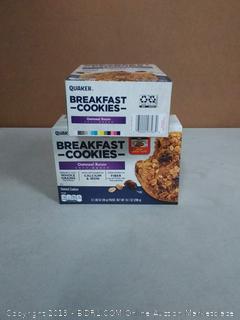 Quaker Breakfast Cookies, Oatmeal Raisin, 10.1oz Cookies Per Box