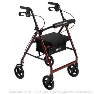 Drive Aluminum Rollator - Just Walkers(Factory Sealed/Box Damage) COME PREVIEW!!!!! (online $69)