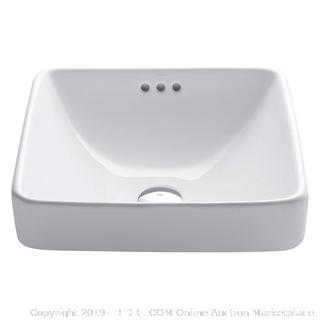 Kraus KCR281 Vitreous China Bath Sink(Factory Sealed/Box Damage) COME PREVIEW!!!!! (online $109)