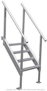 Extreme Max 3005.3846 Universal Mount Aluminum Dock Stair (online $366)