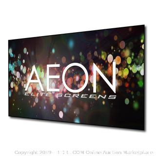 Elite Screens Aeon Series, 100-inch 16:9, 8K / 4K Ultra HD Home Theater Fixed Frame EDGE FREE Borderless Projector Screen,(online $357)