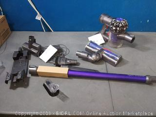 Dyson V6 Animal Cordless Stick Vacuum Cleaner, Purple (previously owned) powers on (online $269)
