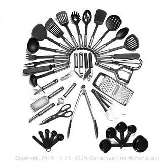 Buy Kitchen Utensil Set - 40 Nylon Cooking Utensils - Kitchen Factory Sealed