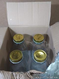 glass jars with lid