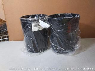 wastebasket black 2pck