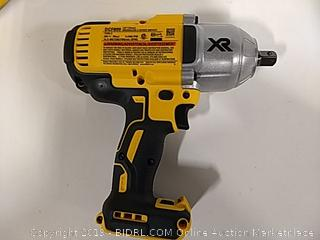 "DeWalt 1/2"" High Torque Impact Wrench With Detent Anvil Tool Only"