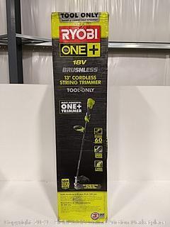 """Ryobi Brushless 13"""" Cordless String Trimmer Tool Only"""