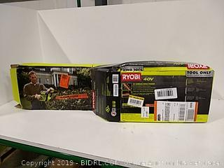 """Ryobi 24"""" Cordless Hedge Trimmer Tool Only"""