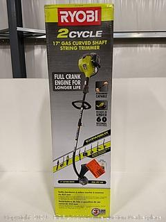 """Ryobi 2 Cycle 17"""" Gas Curved Shaft String Trimmer"""