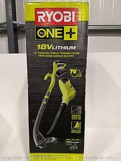 """Ryobi 10"""" Cordless String Trimmer/Edger With Hard Surface Blower"""