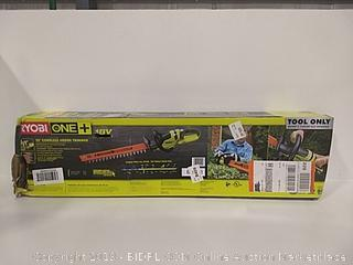 """Ryobi 22"""" Cordless Hedge Trimmer Tool Only"""