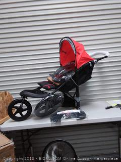 Jeep Classic Jogging Stroller, Red (online $129)
