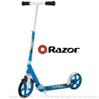 Razor A5 LUX Kick Scooter - Blue(Factory Sealed/Box Damage) COME PREVIEW!!!! (online $84)