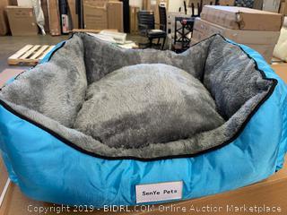 Senye pets small blue dog bed