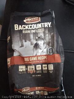 Merrick Backcountry raw infused dog food
