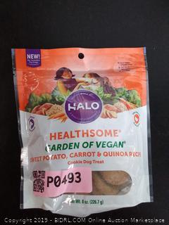Halo Healthsome Garden of Vegan sweet potato, carrot & quinoa dog treats