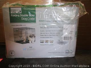 Folding Double Door Dog Crate (Box Damaged)