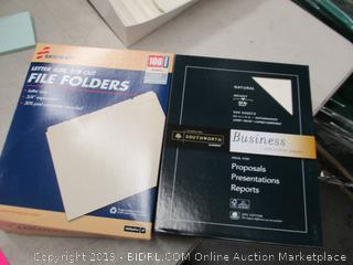File Folders and Business Copy Paper