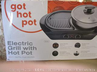 Electric Grill w/ Hot Pot