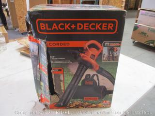 Black and Decker Corded 3 in 1 Vacpack Blower, Vacuum, and Mulcher