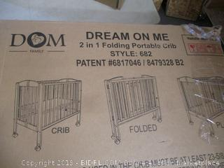 Dream On Me 2 in 1 Folding Portable Crib
