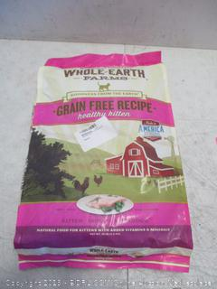 Whole Earth Grain Free Recipes healthy Kitten Food 10 lbs