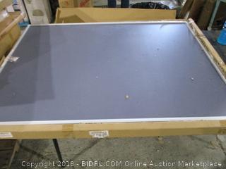Indoor Aluminum Frame Wall Mount enclosed Cork Bulletin Board with Locking door