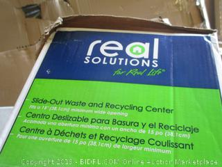 Real Solution Slide Out waste and Recycling Center