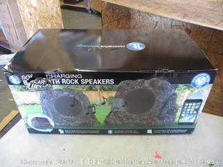 Solar Charging Bluetooth Rock Speakers
