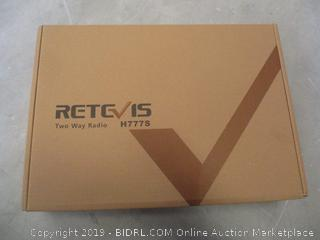 Retevis Two Way Radio Powers On, Factory Sealed opened for picturing