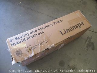 "Linenspa 8"" Spring and Memory Foam Hybrid Mattress twin"