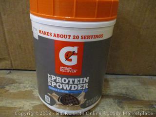 Whey Protein Powder dented