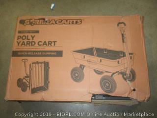 Gorilla Carts Poly Yard Cart