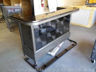 Spun Metal Lighted Bar Table by Pulaski (Online $1919.00)