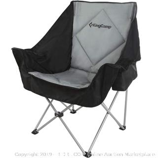 black and grey single folding sofa chair(Factory Sealed/Box Damage) COME PREVIEW!!!! (online $75)