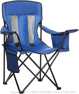 AmazonBasics Camping Chair with Cooler Blue(Factory Sealed/Box Damage) COME PREVIEW!!!!