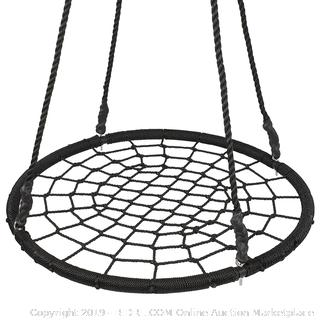 40″ Tree Net Swing Outdoor Spider Web Swing Kid's Detachable