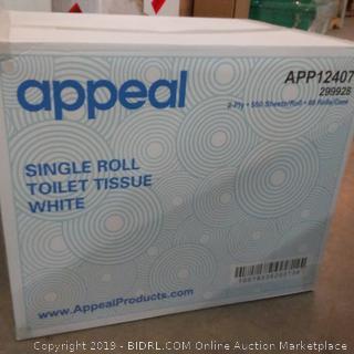Appeal Single Roll Toilet Tissue